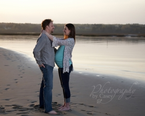 Maternity Photography on the beach at Drakes Island ME, Wrentham MA photographer