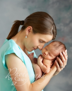 Mommy and newborn baby portraits