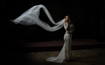 A bridal portrait with natural light