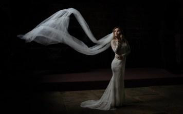 A bridal portrait with natural light