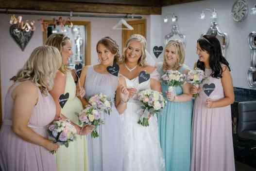 Bridal party at Heaton House Farm