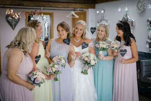 Bridal party at Heaton House Farm