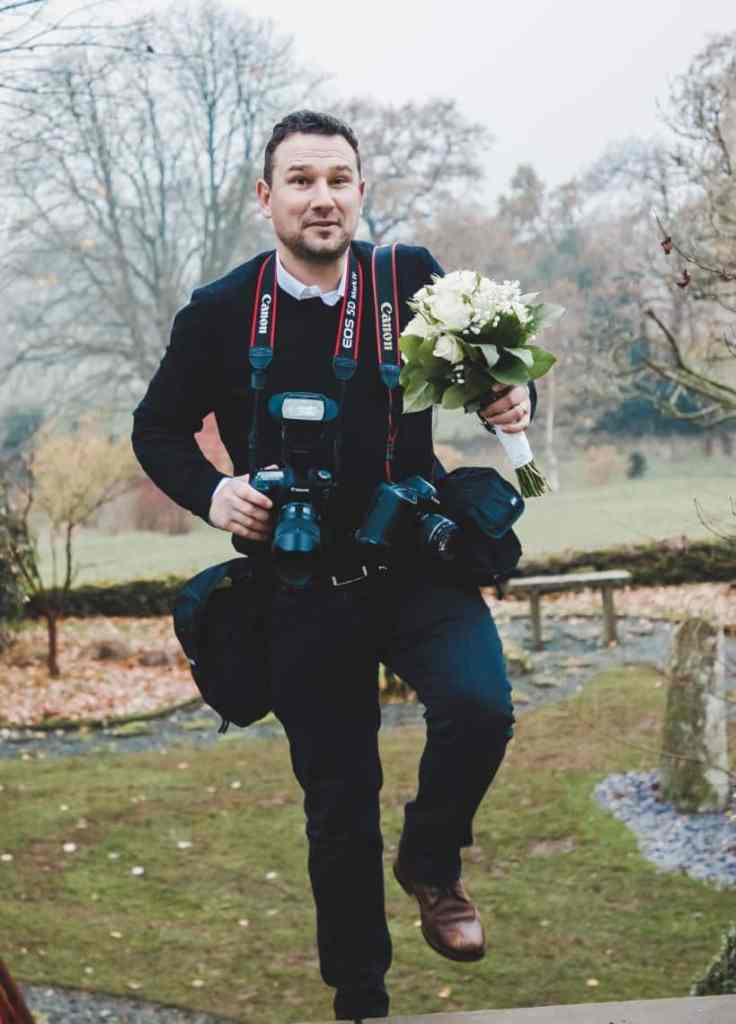 Photography by Dave Thompson at work during a wedding