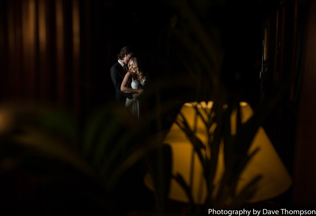 Bride and groom photograph at Eaves Hall