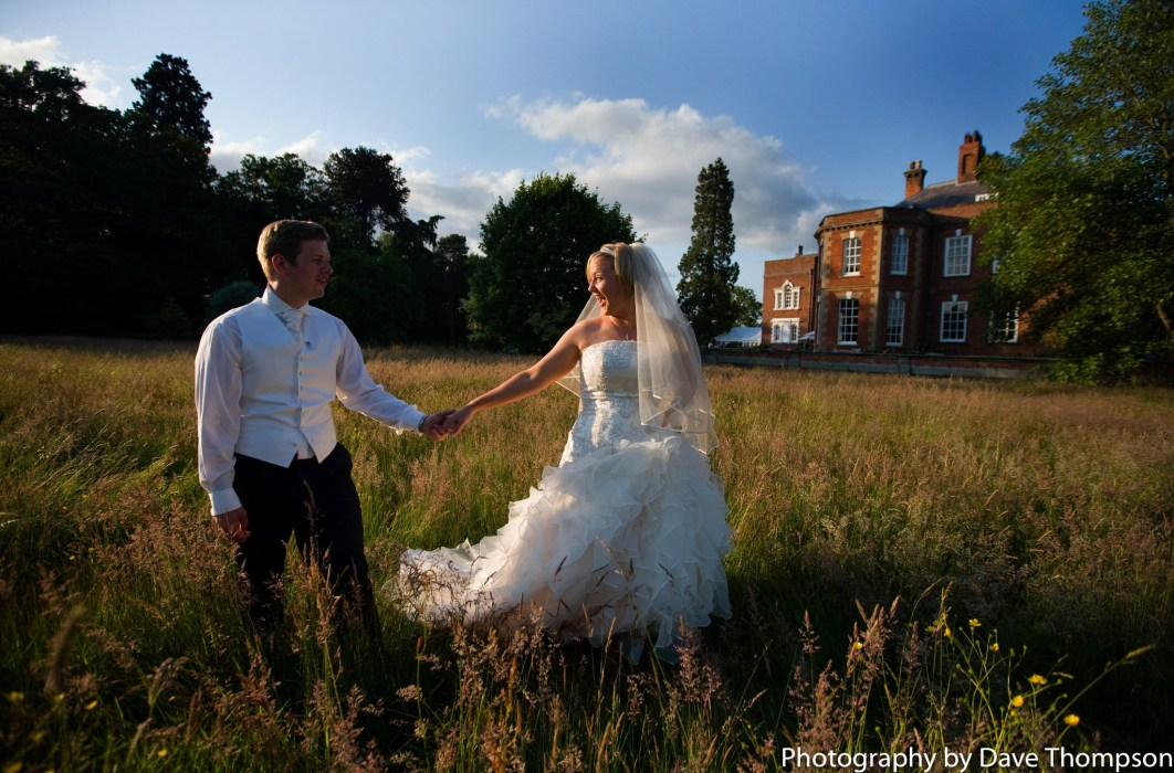 The Bride and Groom after their wedding at Iscoyd Park.