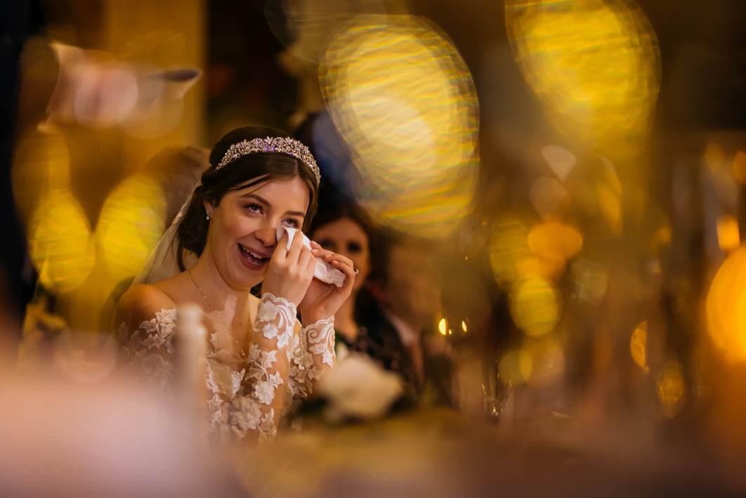 Speeches during a wedding at Peckforton Castle