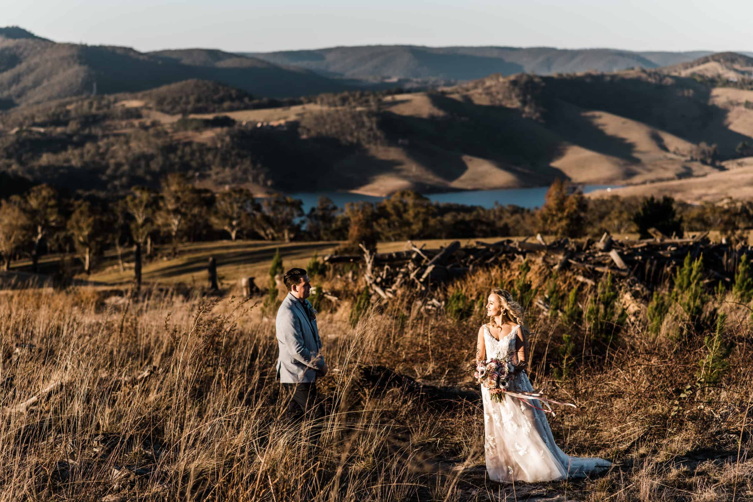 Bride and groom out in the blue mountains where to elope in Australia