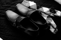 Argyle socks and dress shoes