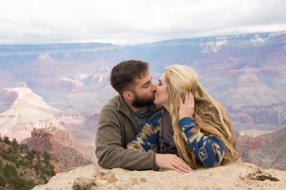 Engagement by the historic village area at the South Rim