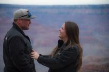Super happy surprised fiance