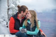 Snow at Grand Canyon portrait
