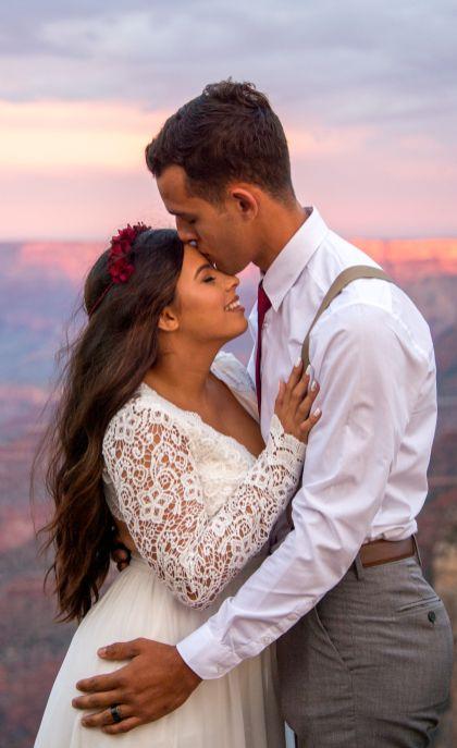 7.27.17 Kathleen and Gabriel Yavapai Point and Duck on a Rock Rock Grand Canyon South Rim Monsoon Season photography by Terri Attridge-42