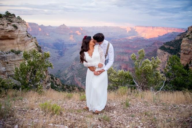 7.27.17 Kathleen and Gabriel Yavapai Point and Duck on a Rock Rock Grand Canyon South Rim Monsoon Season photography by Terri Attridge-79