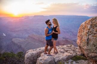 Sunset Grand Canyon Engagement
