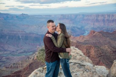 Newly engaged and excited at Grand Canyon