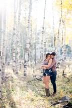 distance shot proposal photos in the Flagstaff Aspens