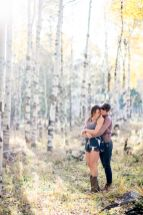 distance shot proposal photos in the Flagstaff Aspens