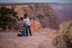 South Rim sunrise engagement