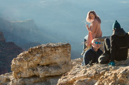 Engagement proposal in action at Lipan Point Grand Canyon