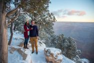 Snowy Norther Arizona engagement session