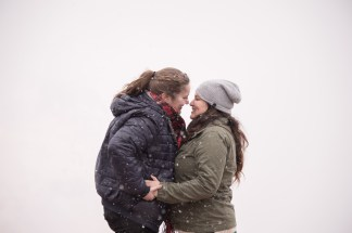 Grand Canyon winter engagement