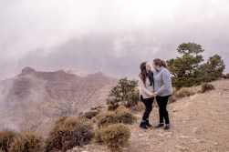 foggy grand canyon engagement