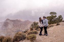 foggy grand canyon engagement