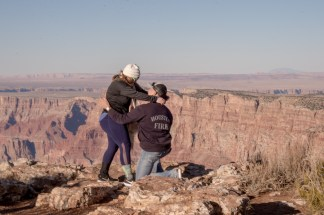 East Rim Grand Canyon Engagement