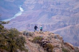 holding hands in the distance Grand Canyon Arizona
