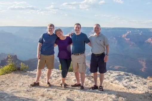 family at Grand Canyon