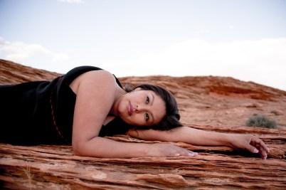 Red rock texture Northern Arizona Portrait