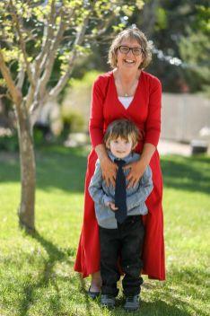 Grandma and Grandson at Arizona Wedding