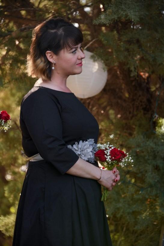 Bridesmaid in awe