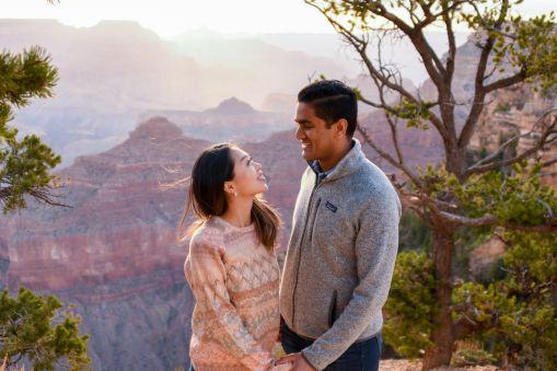 Couple at sunrise Grand Canyon