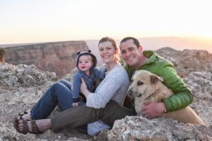 family photo at Grand Canyon