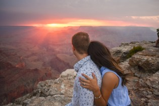 Sunset cuddling at Grand Canyon