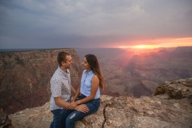 sunset engagement at Grand Canyon