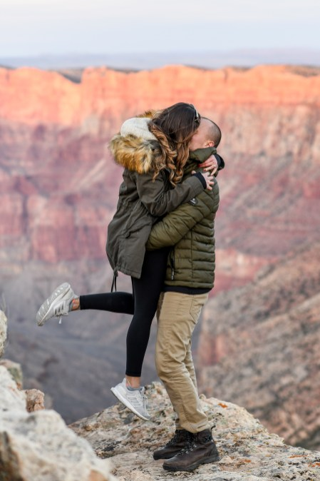 11.17.18 MR Grand Canyon Sunset Surprise Engagement Couples Photos photography by Terri Attridge-76
