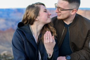 12.21.18 LR Sunset Engagement Proposal Lipan Point Tom and Megan photography by Terri Attridge-110