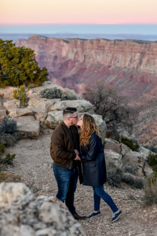 12.21.18 LR Sunset Engagement Proposal Lipan Point Tom and Megan photography by Terri Attridge-40