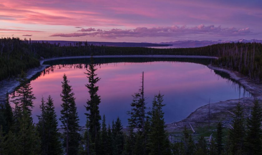 Lake at Yellowstone National Park. Captured with Pentax K-1 DSLR