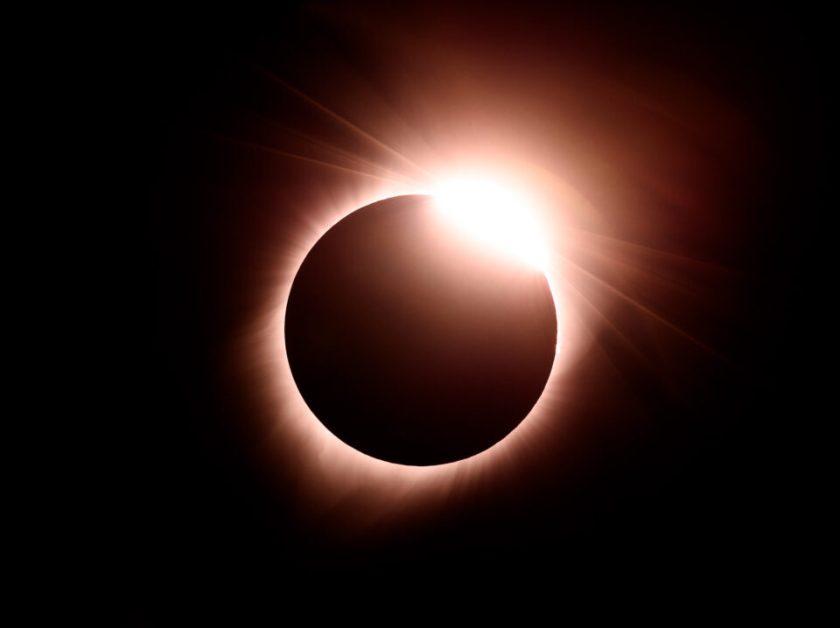 Solar Eclipse Diamond Ring. Captured with Nikon D810 DSLR camera