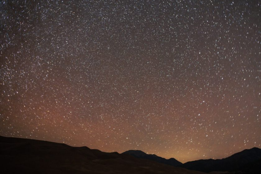 Minimal star trailing when pointing toward the North Star