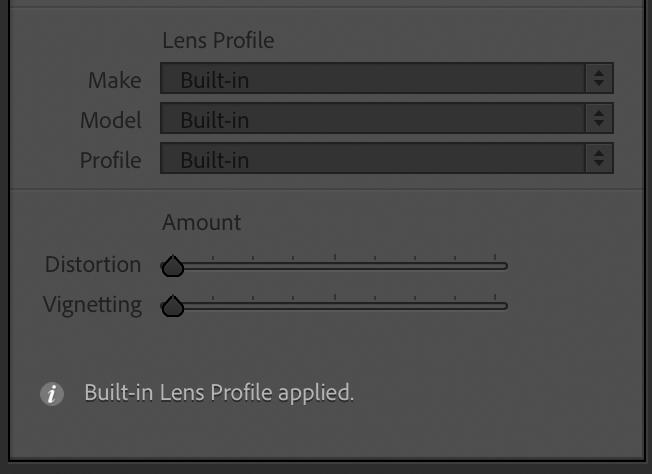 Nikon Z Built-in Lens Profile Lightroom