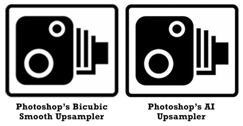 Bicubic Smoother vs AI Upsampling
