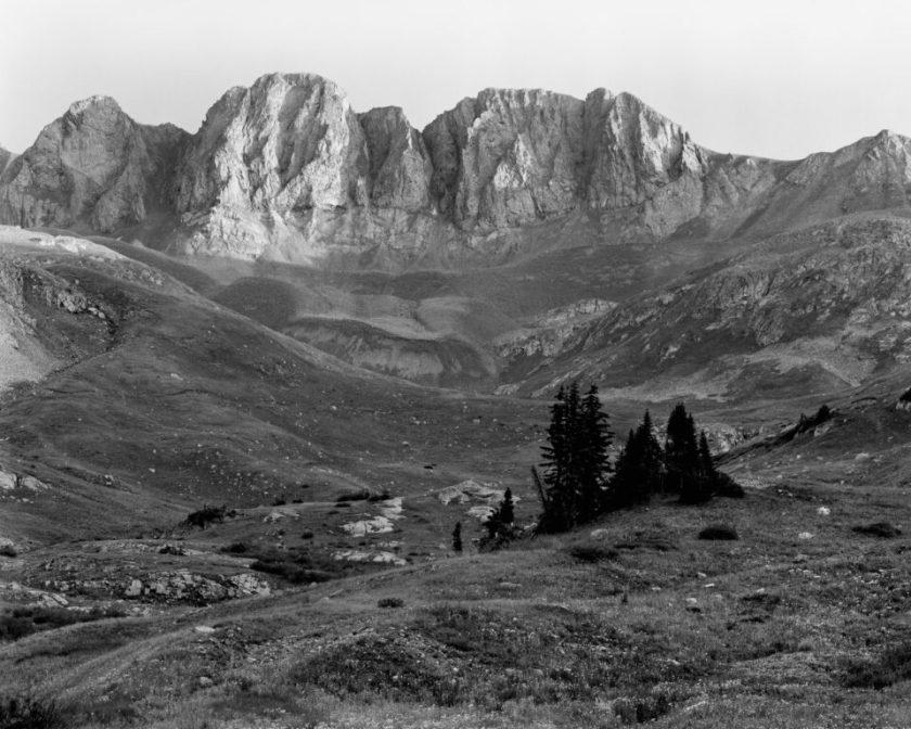 4x5 Monochrome American Basin Mountain