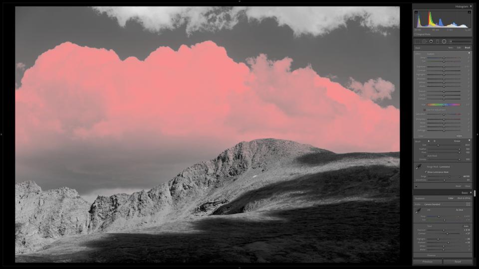 Range Mask Selection of Cloud in Landscape