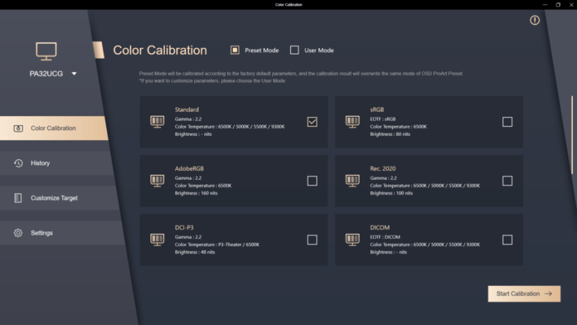 ASUS ProArt Calibration Software