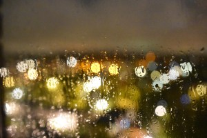 Rain Art - out of the window last night