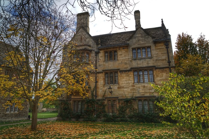A house near the chapel at Merton College
